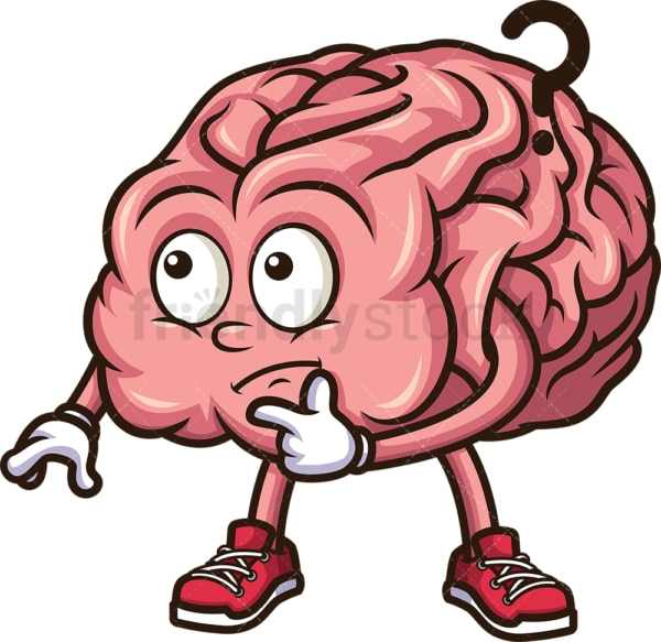 Thinking brain. PNG - JPG and vector EPS (infinitely scalable).