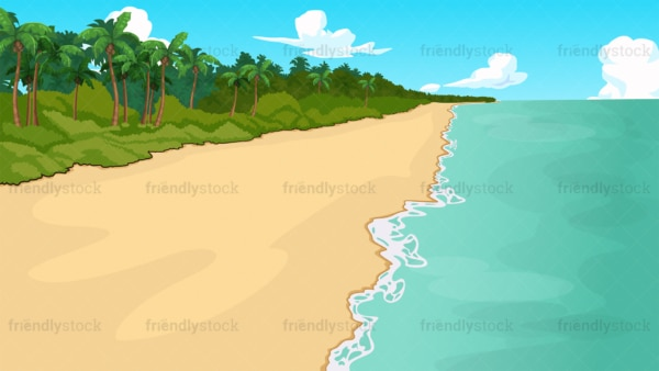 Tropical island beach background in 16:9 aspect ratio. PNG - JPG and vector EPS file formats (infinitely scalable).