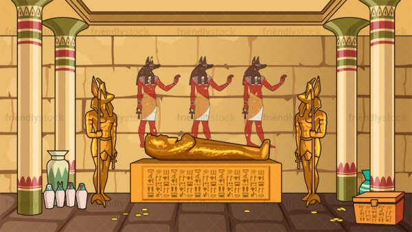 Ancient egyptian tomb background in 16:9 aspect ratio. PNG - JPG and vector EPS file formats (infinitely scalable).