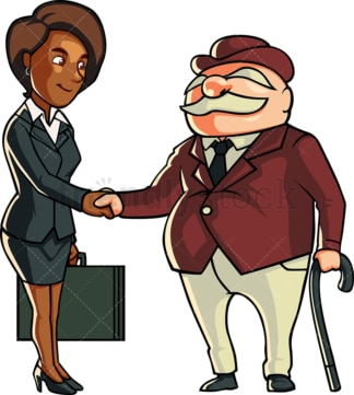 Black woman making business deal. PNG - JPG and vector EPS file formats (infinitely scalable). Image isolated on transparent background.