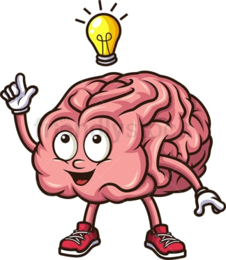 Brain having a good idea. PNG - JPG and vector EPS (infinitely scalable).