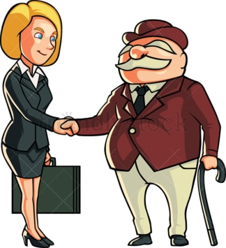 Business woman making a deal. PNG - JPG and vector EPS file formats (infinitely scalable). Image isolated on transparent background.