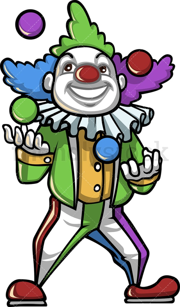 Clown juggles balls. PNG - JPG and vector EPS (infinitely scalable).