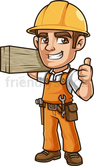 Construction worker thumbs up. PNG - JPG and vector EPS (infinitely scalable).
