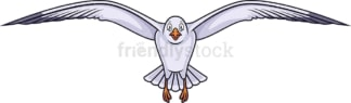 Front view seagull flying. PNG - JPG and vector EPS (infinitely scalable).
