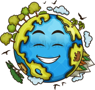 Healthy earth. PNG - JPG and vector EPS file formats (infinitely scalable). Image isolated on transparent background.