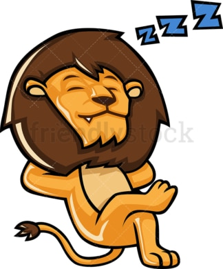Lion sleeping. PNG - JPG and vector EPS (infinitely scalable).