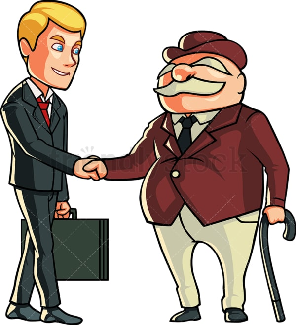 Man making a business deal. PNG - JPG and vector EPS file formats (infinitely scalable). Image isolated on transparent background.