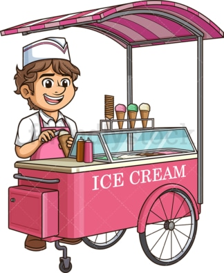 Man making ice cream. PNG - JPG and vector EPS (infinitely scalable).