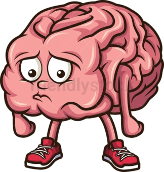 Sad brain. PNG - JPG and vector EPS (infinitely scalable).