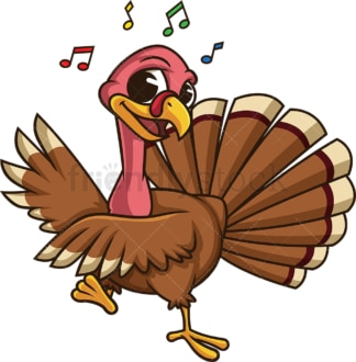 Turkey dancing. PNG - JPG and vector EPS (infinitely scalable). Image isolated on transparent background.