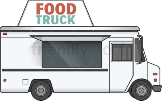 White food track side view. PNG - JPG and vector EPS file formats (infinitely scalable). Image isolated on transparent background.