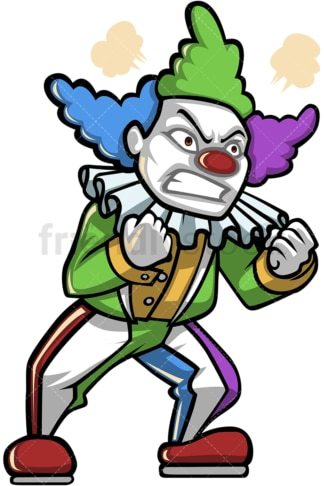 Angry clown. PNG - JPG and vector EPS (infinitely scalable).