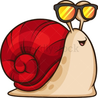 Cool snail with sunglasses. PNG - JPG and vector EPS (infinitely scalable).