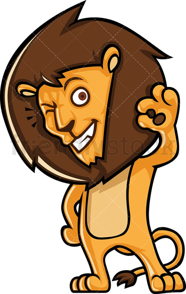 Cute lion a-ok. PNG - JPG and vector EPS (infinitely scalable).
