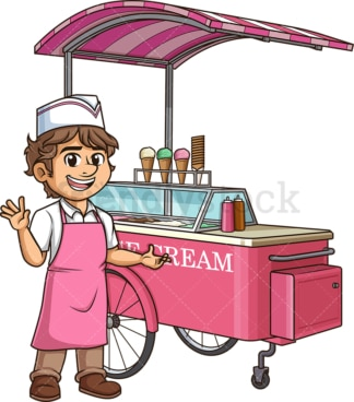 Happy ice cream man. PNG - JPG and vector EPS (infinitely scalable).