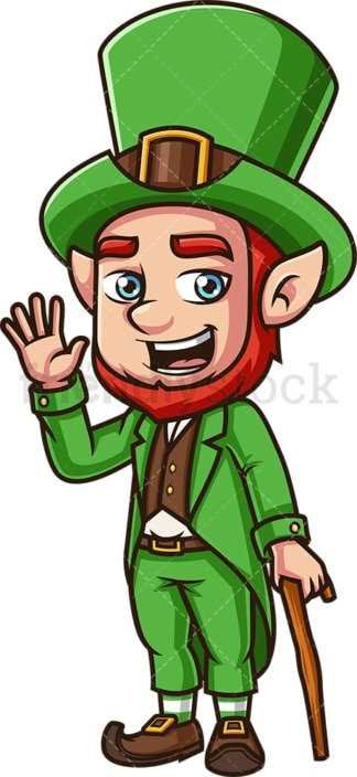 Leprechaun waving. PNG - JPG and vector EPS (infinitely scalable).