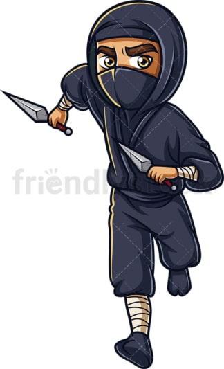 Running japanese ninja. PNG - JPG and vector EPS (infinitely scalable).