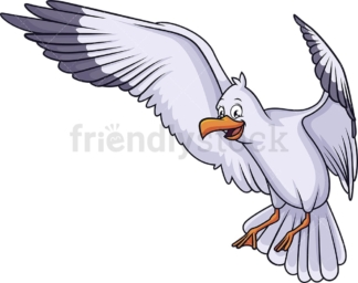 Seagull landing. PNG - JPG and vector EPS (infinitely scalable).