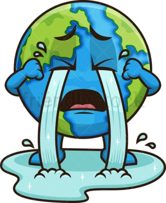 Earth crying. PNG - JPG and vector EPS (infinitely scalable).