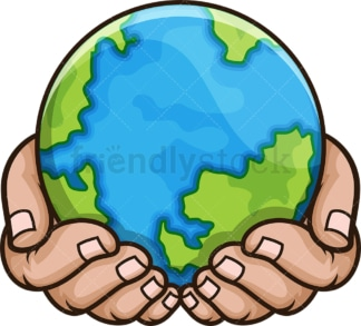 Hands holding the earth. PNG - JPG and vector EPS file formats (infinitely scalable). Image isolated on transparent background.