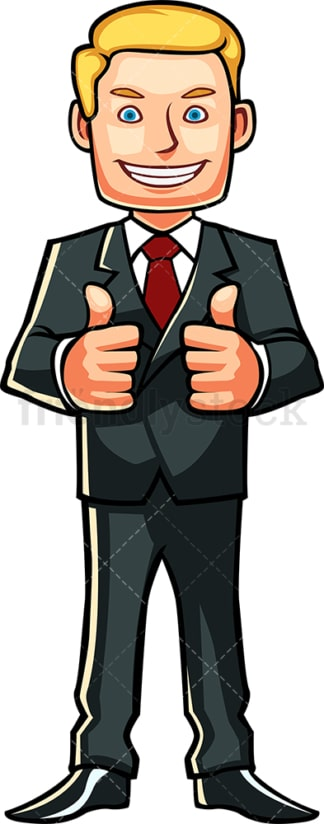 Male professional thumbs up. PNG - JPG and vector EPS file formats (infinitely scalable). Image isolated on transparent background.