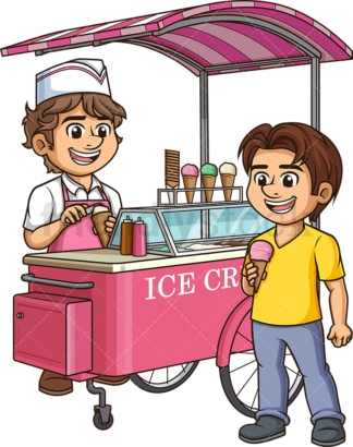 Man selling ice cream. PNG - JPG and vector EPS (infinitely scalable).