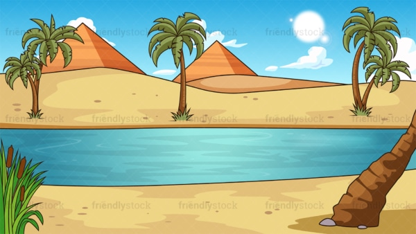 Nile river background in 16:9 aspect ratio. PNG - JPG and vector EPS file formats (infinitely scalable).