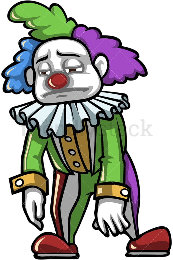 Sad clown. PNG - JPG and vector EPS (infinitely scalable).