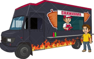 Shawarma food truck. PNG - JPG and vector EPS (infinitely scalable).