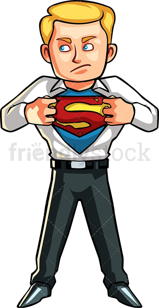 Superman businessman. PNG - JPG and vector EPS file formats (infinitely scalable). Image isolated on transparent background.