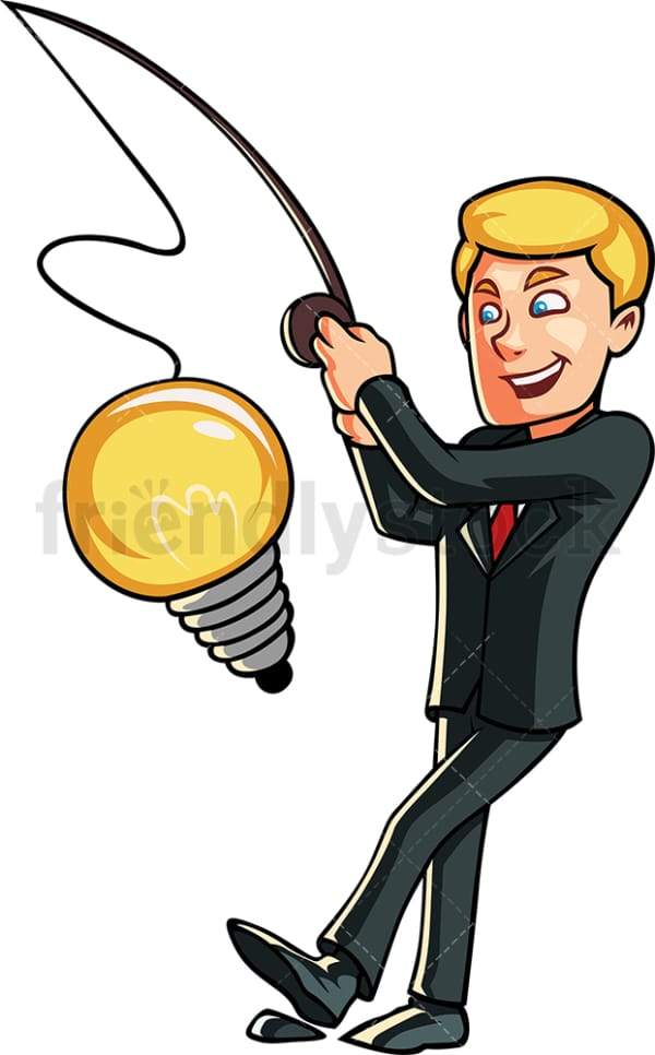Businessman coming up with idea. PNG - JPG and vector EPS file formats (infinitely scalable). Image isolated on transparent background.