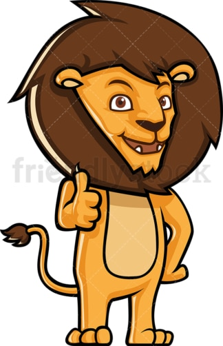 Cute lion thumbs up. PNG - JPG and vector EPS (infinitely scalable).