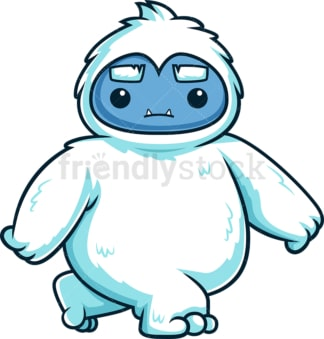 Cute yeti monster walking. PNG - JPG and vector EPS (infinitely scalable).