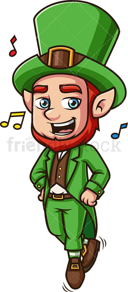 Dancing leprechaun. PNG - JPG and vector EPS (infinitely scalable). Image isolated on transparent background.