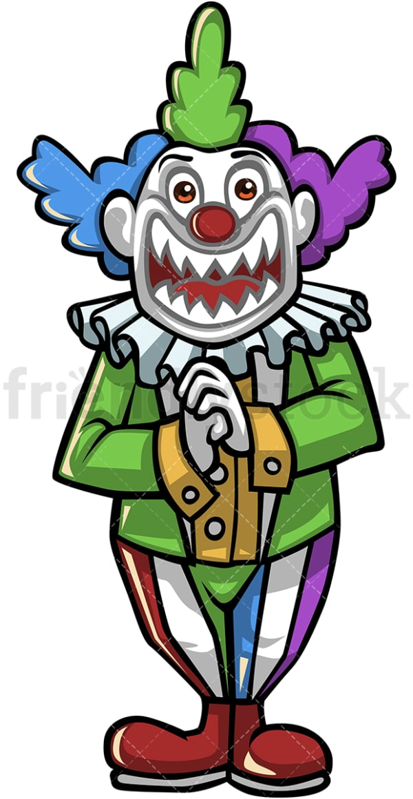 Evil joker clown. PNG - JPG and vector EPS (infinitely scalable).