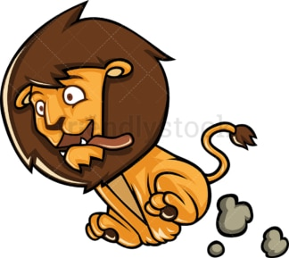 Lion running fast. PNG - JPG and vector EPS (infinitely scalable).