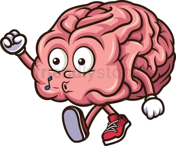 Relaxed brain. PNG - JPG and vector EPS (infinitely scalable).