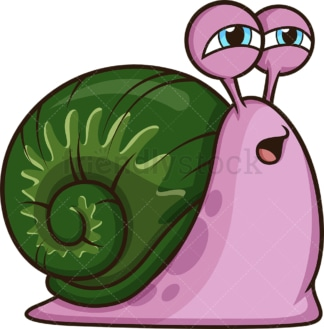 Sleepy snail. PNG - JPG and vector EPS (infinitely scalable).