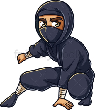 Vigilant japanese ninja. PNG - JPG and vector EPS (infinitely scalable).