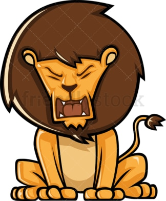 Cute lion roaring. PNG - JPG and vector EPS (infinitely scalable).
