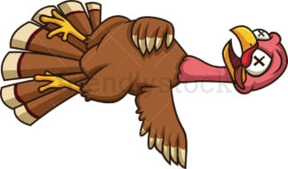 Dead turkey. PNG - JPG and vector EPS (infinitely scalable).