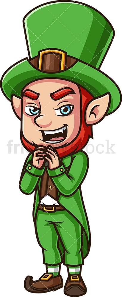 Evil leprechaun. PNG - JPG and vector EPS (infinitely scalable).