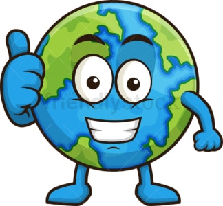 Happy earth. PNG - JPG and vector EPS (infinitely scalable).