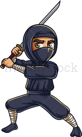Japanese ninja with sword. PNG - JPG and vector EPS (infinitely scalable).