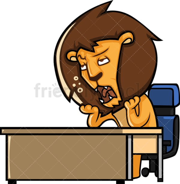 Bored lion. PNG - JPG and vector EPS (infinitely scalable).