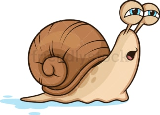 Slow moving snail. PNG - JPG and vector EPS (infinitely scalable).