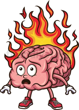 Brain on fire. PNG - JPG and vector EPS (infinitely scalable).