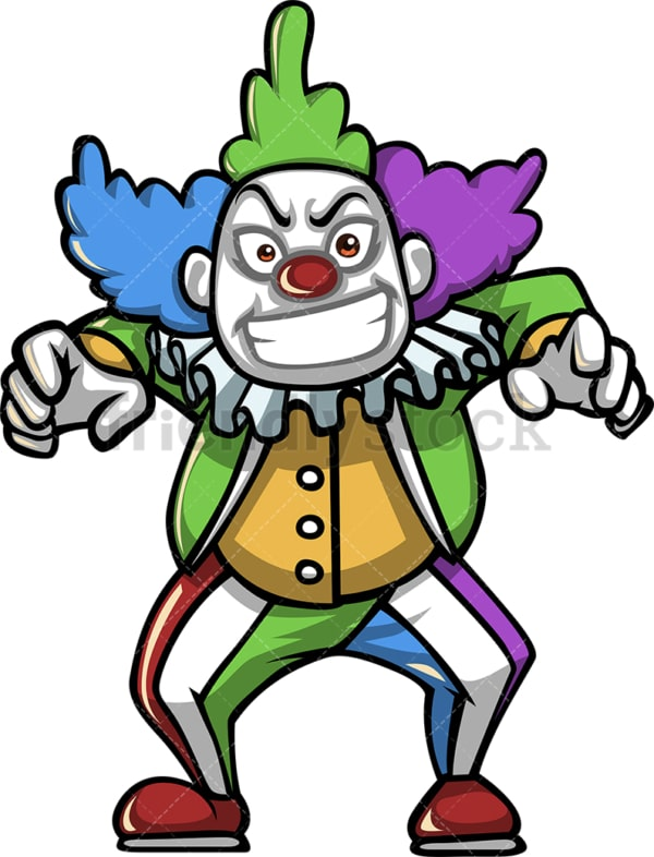 Evil creepy clown. PNG - JPG and vector EPS (infinitely scalable).