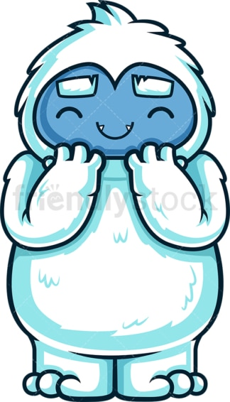Excited cute yeti monster. PNG - JPG and vector EPS (infinitely scalable).